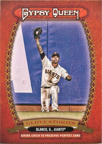 Photo of 2013 Topps Gypsy Queen Glove Stories #GB Gregor Blanco