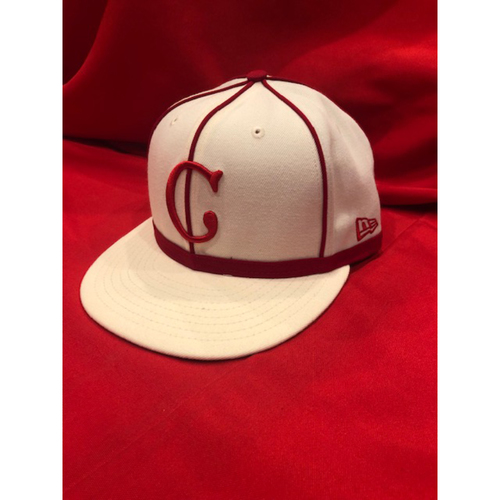 J.R. House -- 1902 Throwback Cap -- Game Used -- SF @ CIN on May 4, 2019
