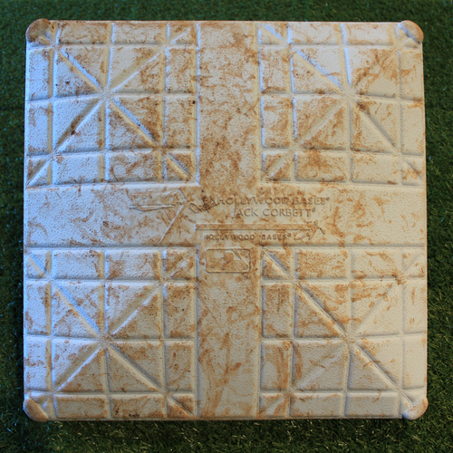 Photo of Game-Used 2nd Base: Yordan Alvarez 25th Career Home Run (Innings 6-9 - HOU @ KC - 9/14/19)