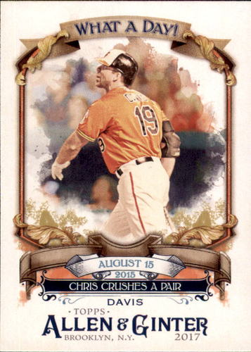 Photo of 2017 Topps Allen and Ginter What a Day #WAD38 Chris Davis