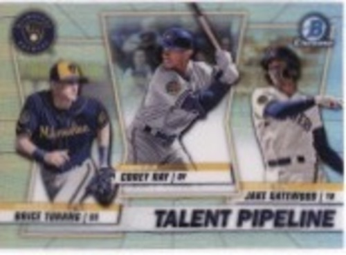 Photo of 2020 Bowman Chrome Talent Pipeline #TPMIL Corey Ray/Jake Gatewood/Brice Turang