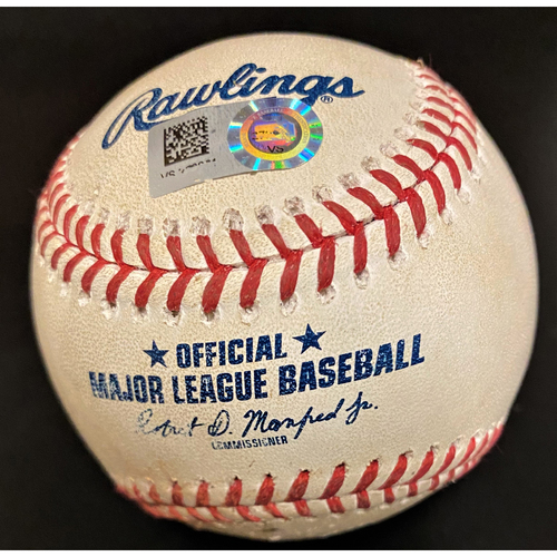 Photo of Game-Used Baseball:  Travis Demeritte Detroit Tigers Position Player Pitched Ball (MLB AUTHENTICATED)