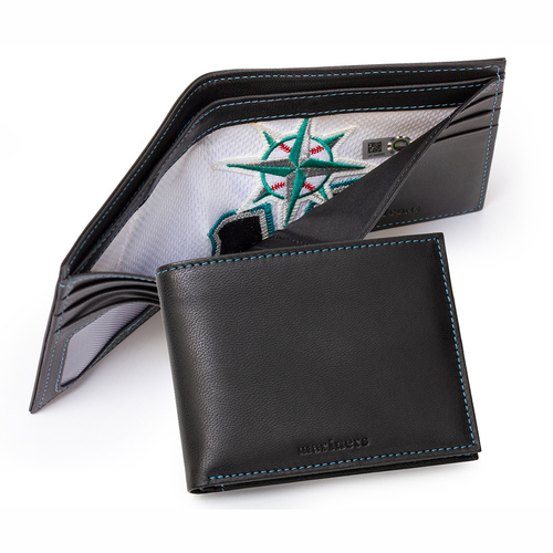 Photo of Tokens & Icons Seattle Mariners Game Used Uniform Wallet