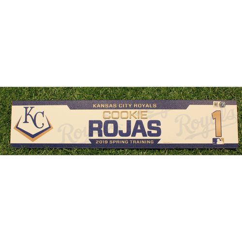 Photo of Team-Issued 2019 Spring Training Locker Tag: Cookie Rojas #1