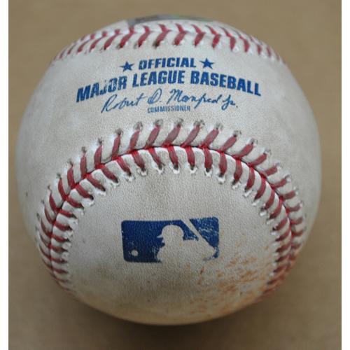 Game-Used Baseball - MIL at PIT - 8/23/2020 - Pitcher: Corbin Burnes (MIL), Batter - Erik Gonzalez, Bot 1, Double