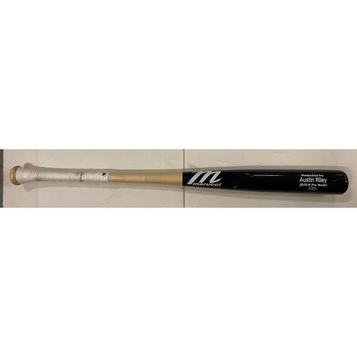 Photo of Austin Riley Game Used Cracked Bat, Foul - June 4, 2021
