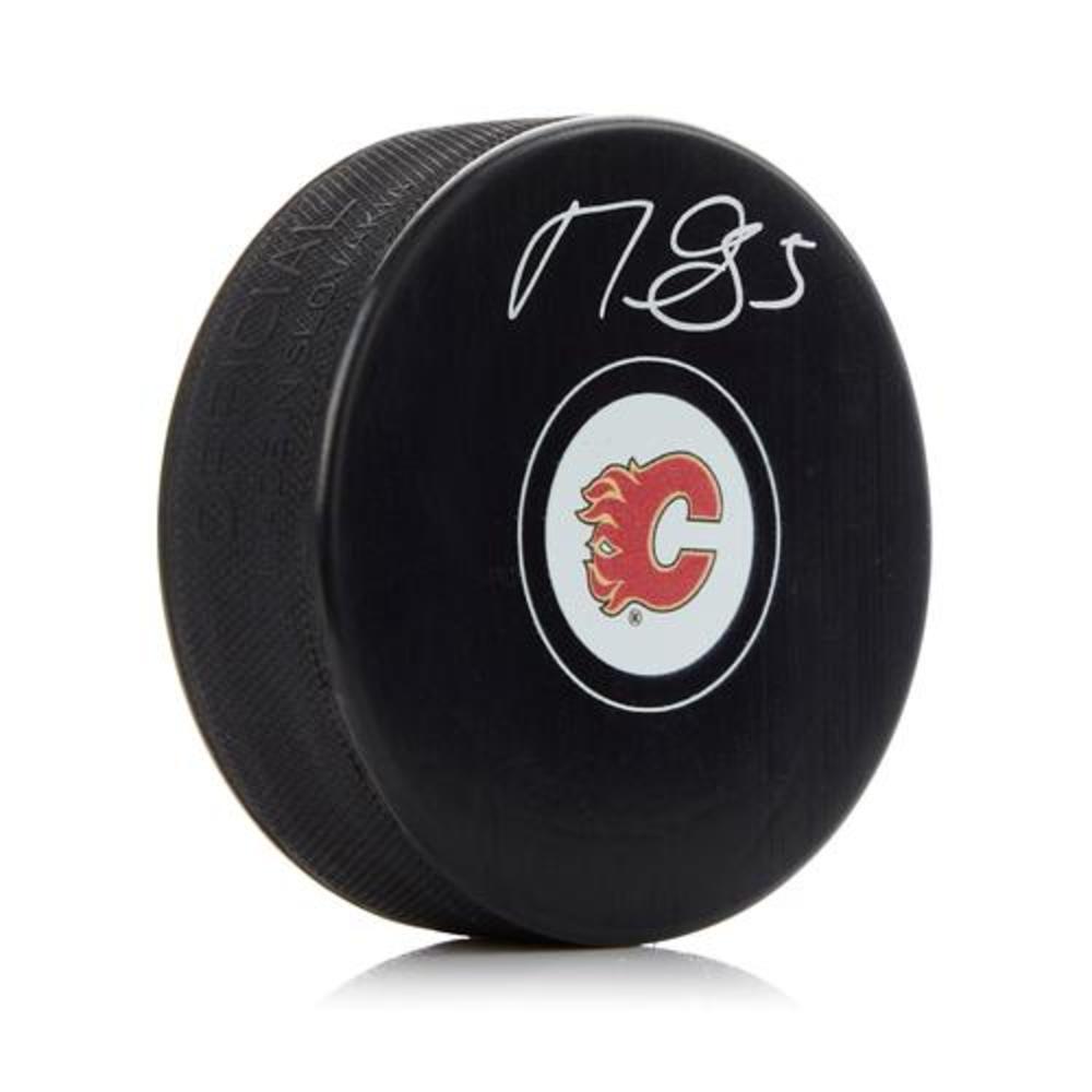 Mark Giordano Calgary Flames Autographed Hockey Puck