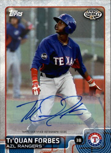 Photo of 2015 Topps Pro Debut Autographs #118 Ti'Quan Forbes