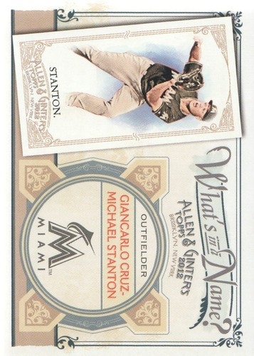 Photo of 2012 Topps Allen and Ginter What's in a Name #WIN23 Giancarlo Cruz Michael Stanton