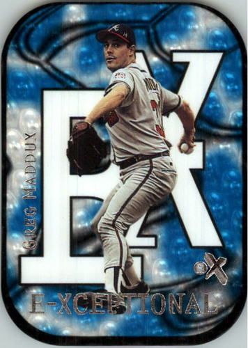 Photo of 2000 E-X E-Xceptional Blue #XC12 Greg Maddux