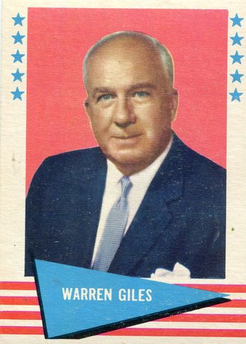 Photo of 1961 Fleer #33 Warren Giles -- Hall of Fame Class of 1979