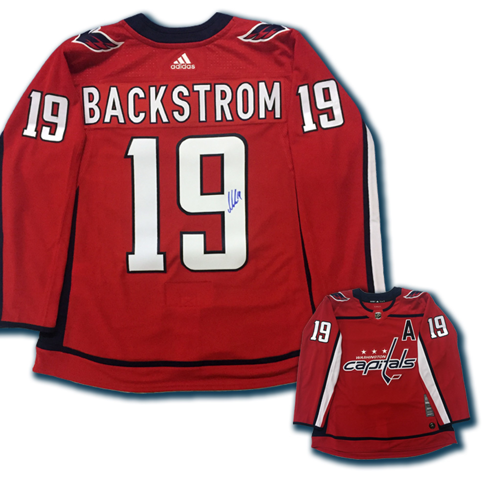 NICKLAS BACKSTROM Signed Washington Capitals Red Adidas PRO Jersey