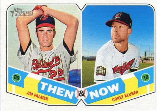 Photo of 2018 Topps Heritage Then and Now #TN2 Corey Kluber/Jim Palmer