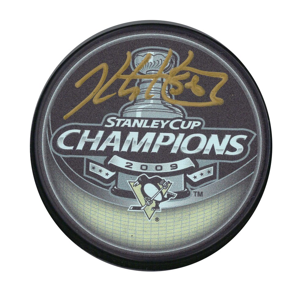 Kris Letang - Signed Puck Pittsburgh Penguins 2009 Stanley Cup Champions