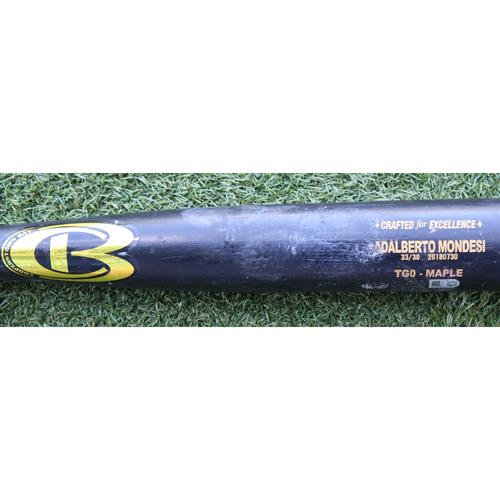 Photo of Game-Used Broken Bat: Adalberto Mondesi 63rd Career Hit (CHC @ KC - 8/7/18)