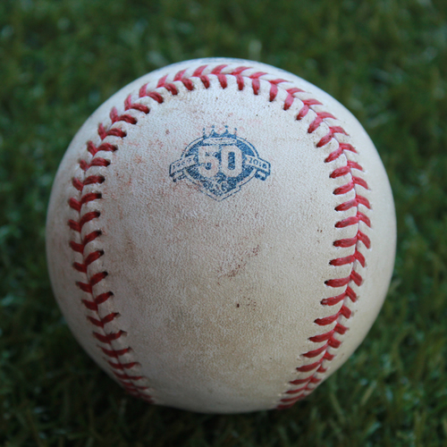 Photo of Game-Used Baseball: Welington Castillo 113th Career Double (CWS @ KC - 9/10/18)