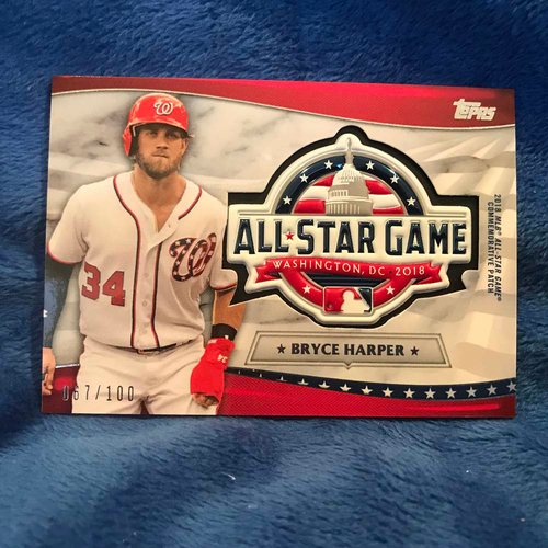 Photo of UMPS CARE AUCTION: 2018 Topps All-Star Game Bryce Harper Commemorative Card/Patch