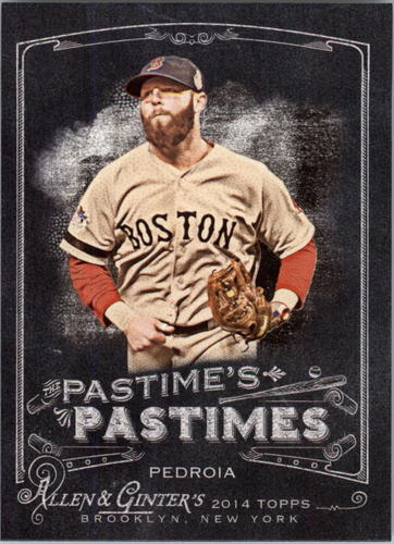 Photo of 2014 Topps Allen and Ginter The Pastime's Pastime #PPDP Dustin Pedroia