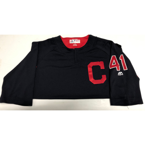 Photo of Carlos Santana Team Issued Batting Practice Jersey