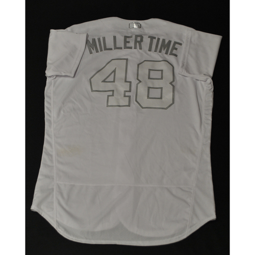 "Photo of Josh ""MILLER TIME"" Miller Houston Astros Game-Used 2019 Players' Weekend Jersey"