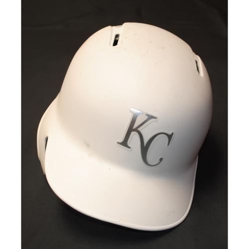 "Photo of Ryan ""Brohearn"" O'Hearn Kansas City Royals Game-Used 2019 Players' Weekend Helmet"