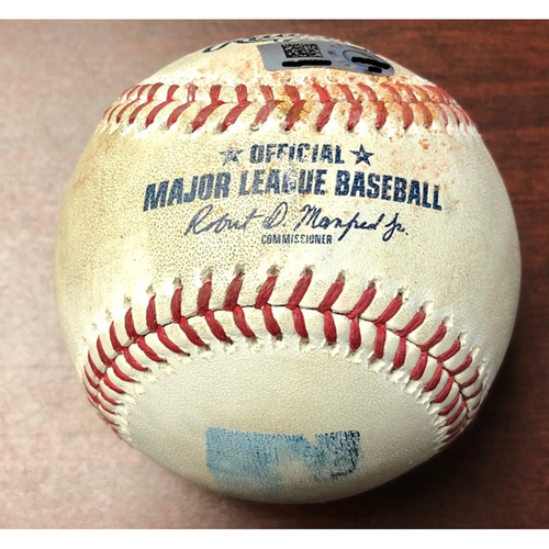 Photo of Game Used Baseball: Shohei Ohtani swinging strike against Blake Snell - June 14, 2019 v LAA