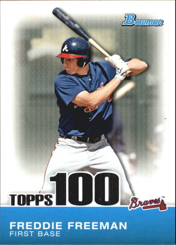 Photo of 2010 Bowman Topps 100 Prospects #TP24 Freddie Freeman