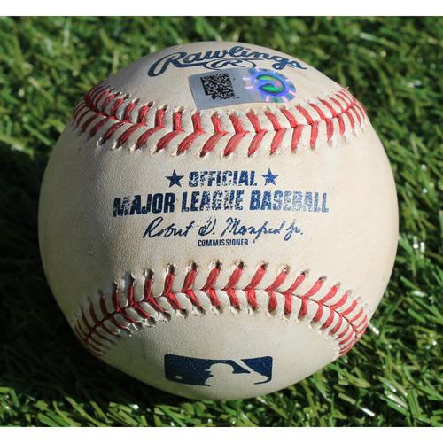 Photo of Game-Used Baseball: Brandon Lowe Foul (5/1/19 - TB @ KC)