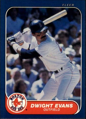 Photo of 1986 Fleer #348 Dwight Evans