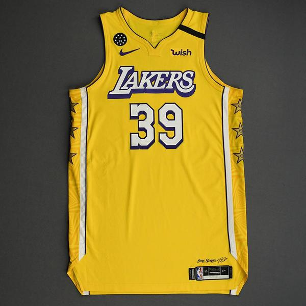 Image of Dwight Howard - Los Angeles Lakers - 2020 AT&T Slam Dunk - Event-Worn City Edition Jersey