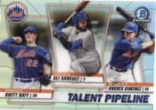 Photo of 2020 Bowman Chrome Talent Pipeline #TPNYM Ali Sanchez/Andres Gimenez/Brett Baty