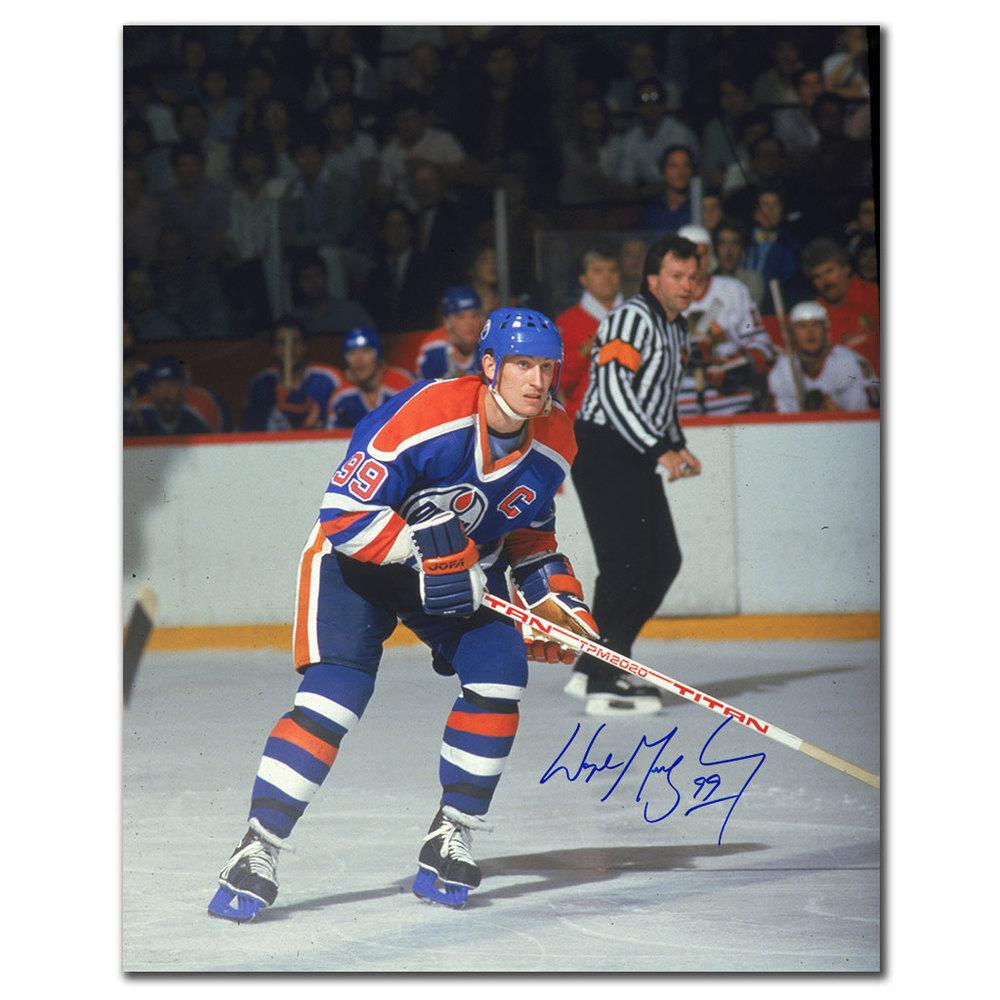 Wayne Gretzky Edmonton Oilers ACTION Autographed 16x20