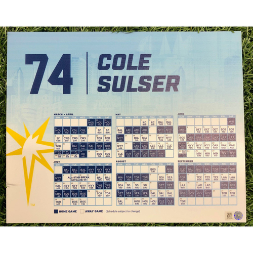 Photo of Rays Baseball Foundation: Team Issued Locker Tag: Cole Sulser - Rookie Season - 2019 Season