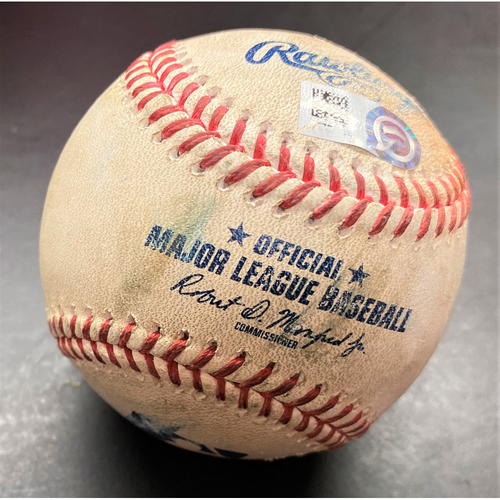 Photo of Game-Used Baseball:  Niko Goodrum Detroit Tigers Single off Gerrit Cole and Stolen Base (MLB AUTHENTICATED)