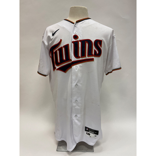 Photo of Minnesota Twins: 2021 Game-Used Jersey - Home White Josh Donaldson jersey worn on 5/2/2021 - 2 for 5 with 2 doubles and on 6/27/2021 - 2 for 5 with a solo Homerun.