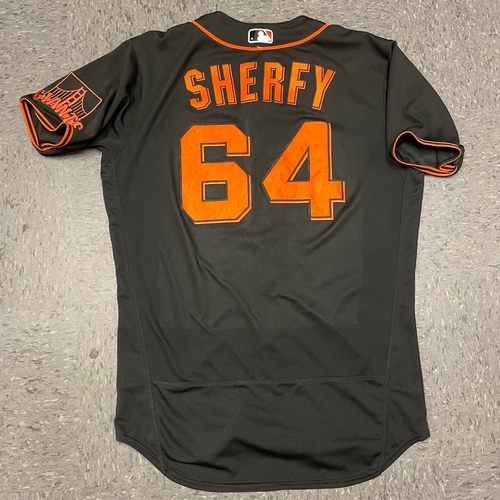 Photo of 2021 Team Issued Black Home Alt Jersey - #64 Jimmie Sherfy - Size 44