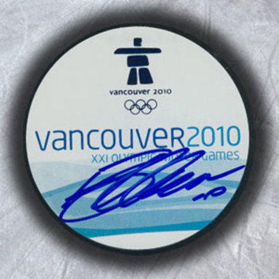 BRENDEN MORROW 2010 Olympic Games SIGNED Puck - Canada