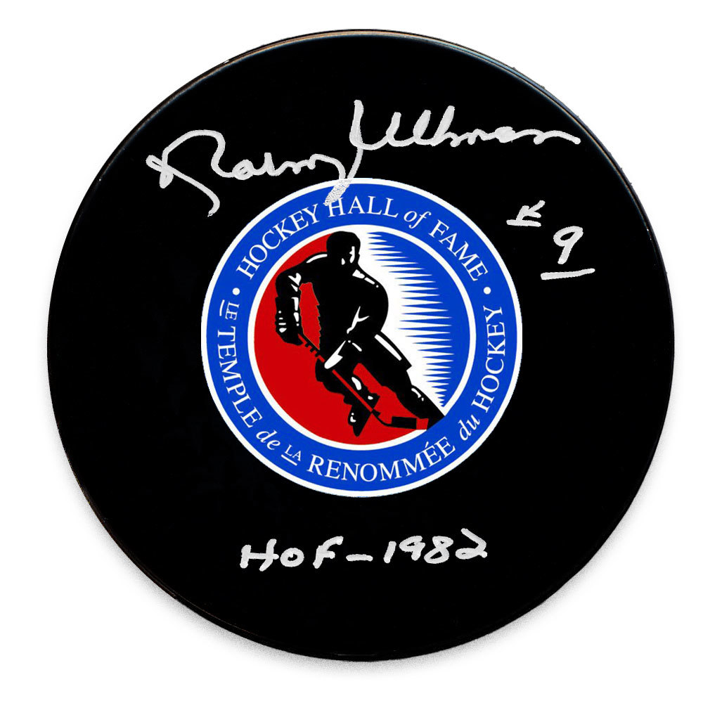 Norm Ullman Hockey Hall of Fame Autographed Puck