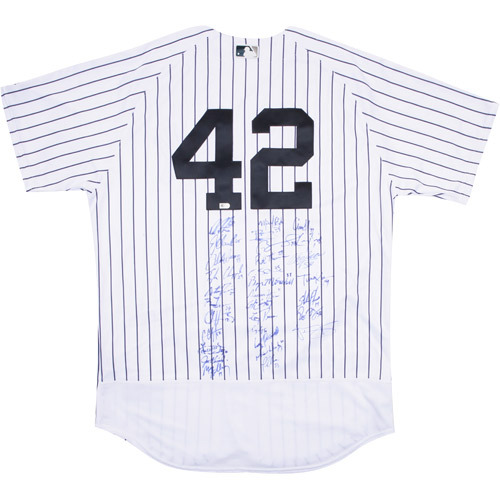 2017 Jackie Robinson Day Jersey - New York Yankees Team Autographed Jersey