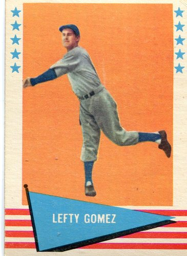 Photo of 1961 Fleer #34 Lefty Gomez -- Hall of Fame Class of 1972
