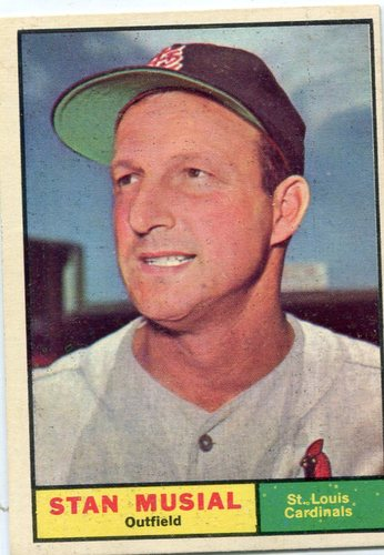 Photo of 1961 Topps #290 Stan Musial -- Hall of Fame Class of 1969