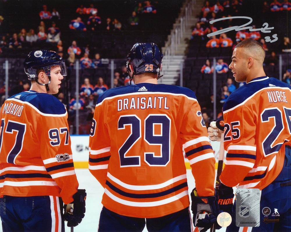 Darnell Nurse - Signed 8X10 Photo Oilers with McDavid & Draisaitl