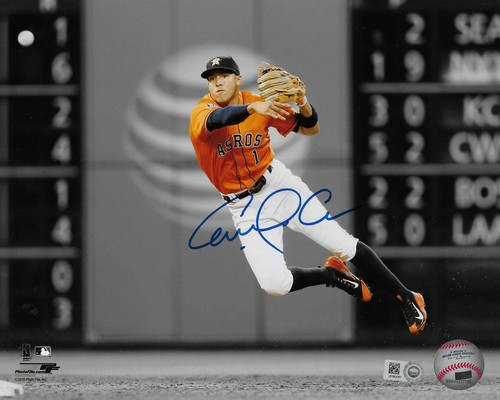 Carlos Correa Autographed 8x10 Photo (Fielding)