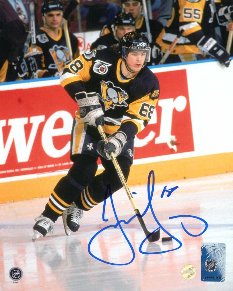 Jaromir Jagr - Signed 8x10 Unframed Pittsburgh Penguins Dark Action-V