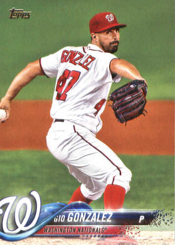 Photo of 2018 Topps #113 Gio Gonzalez