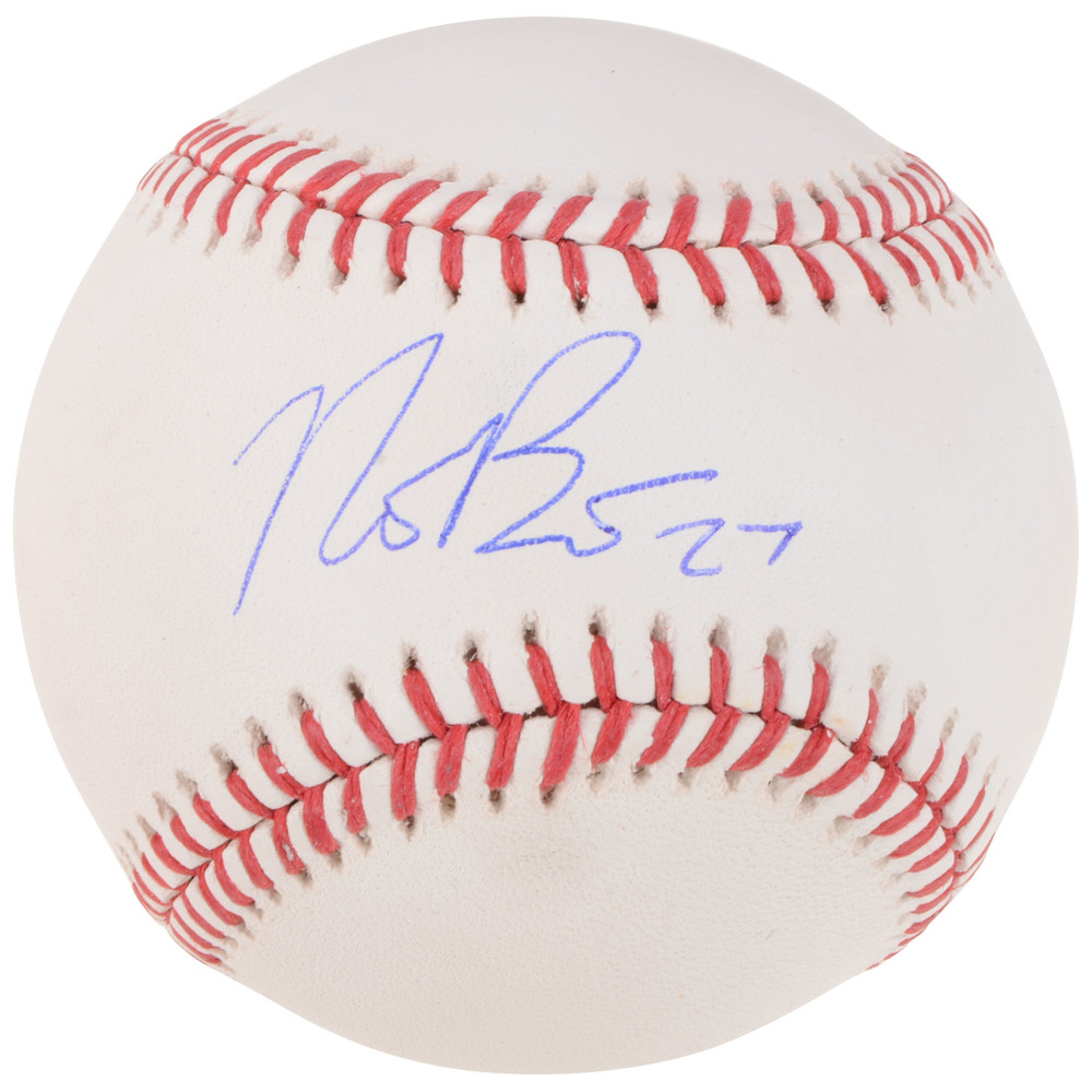 Nick Bjugstad Florida Panthers Autographed Baseball With Free Mahogany Case