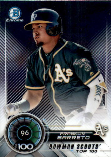 Photo of 2018 Bowman Chrome Scouts Top 100 #BTP96 Franklin Barreto