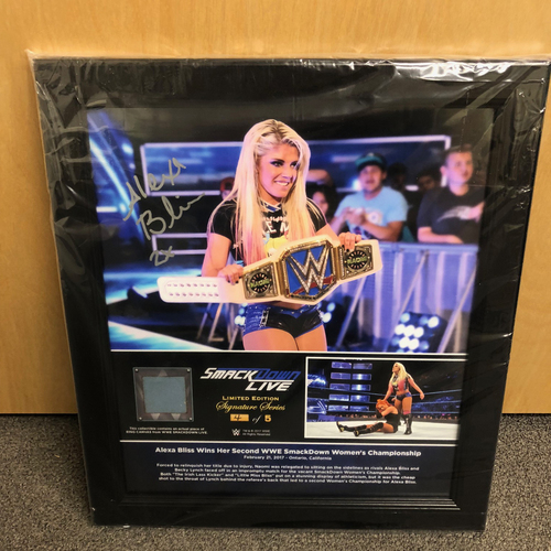Photo of Alexa Bliss Autographed Signature Series Ring Canvas Plaque (#4 of 5)