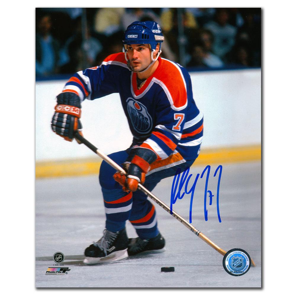 Paul Coffey Edmonton Oilers PASS Autographed 8x10