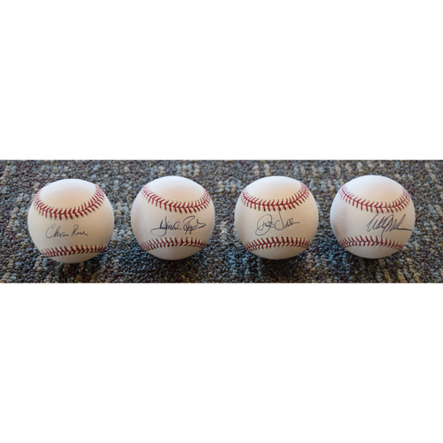 Photo of Chris Rose, Harold Reynolds, Dave Valle, Mitch Williams MLB Network Autographed Baseball Collection (Not MLB Authenticated)